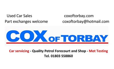 Cox of Torbay Advert